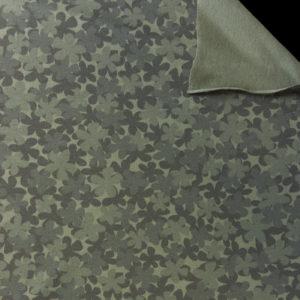 Teplákovina – kytičky tmavě zelené