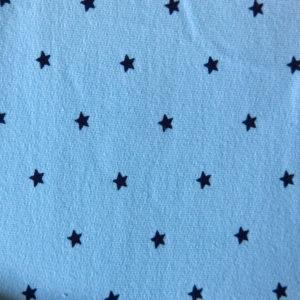 Teplákovina – hvězdičky na světle modré