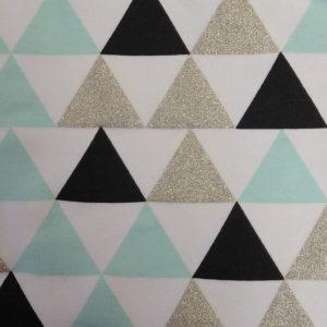 Teplákovina – trojúhelníky mentolové