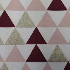Teplákovina – trojúhelníky bordó